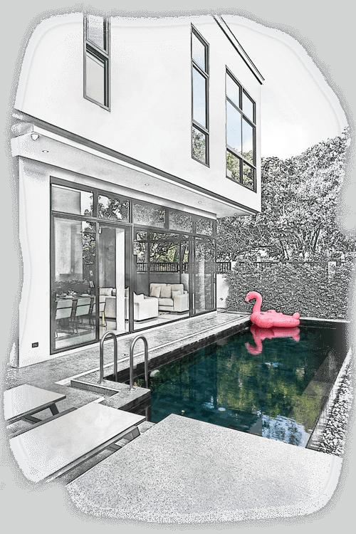 Izgradnja bazena izpred kuće
